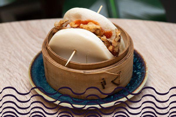 Gran bao de cangrejo soft shell